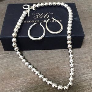 """""""346"""" Brooks Brothers Sterling Jewelry Set"""